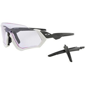 Oakley Flight Jacket Bike Glasses white